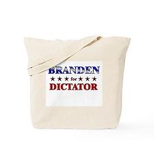 BRANDEN for dictator Tote Bag