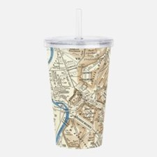 Vintage Map of Rome It Acrylic Double-wall Tumbler