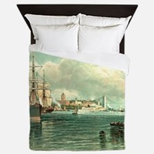 New York Harbor Queen Duvet