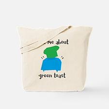 Green Toast Tote Bag