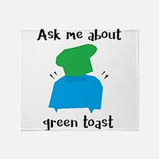 Green Toast Throw Blanket