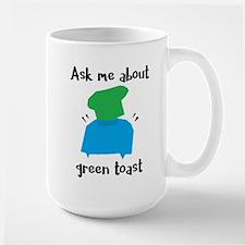 Green Toast Mugs