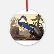 Louisiana Heron Vintage Audubon Bird Round Ornamen