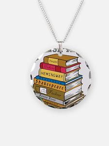 English Major Necklace Circle Charm