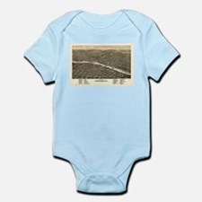 Vintage Map of Rockford Illinois (1880) Body Suit