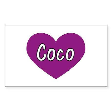 Coco Rectangle Sticker