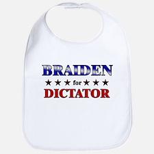 BRAIDEN for dictator Bib