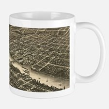 Vintage Map of Rockford Illinois (1880) Mugs