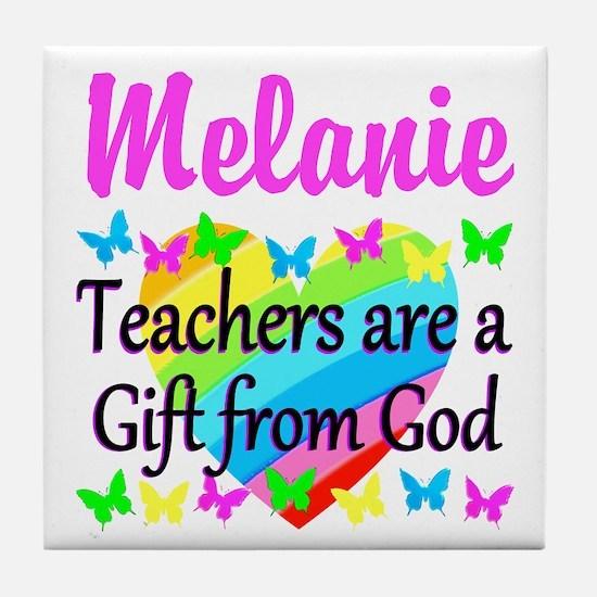 TEACHER PRAYER Tile Coaster