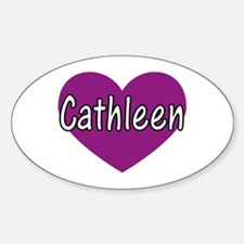 Cathleen Oval Decal