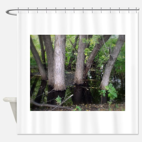 Pond Shower Curtain