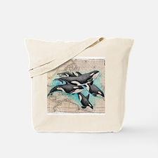 Vintage whale Tote Bag