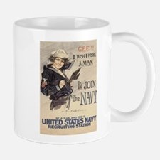 Gee I Wish I Could Join The Navy Mugs