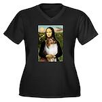 Mona's Sable Sheltie Women's Plus Size V-Neck Dark