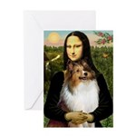 Mona's Sable Sheltie Greeting Card