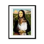 Mona's Sable Sheltie Framed Panel Print
