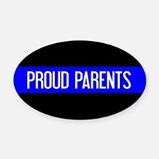 Police: Proud Parents (The Thin Bl Oval Car Magnet
