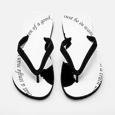 Unique Pride prejudice Flip Flops