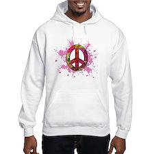 Painted Peace (pink) Hoodie