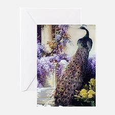 Bidau Peacock, Doves, Wi Greeting Cards (Pk of 20)