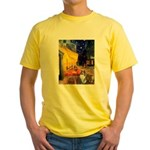 Cafe / Sheltie Yellow T-Shirt