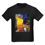 Cafe / Sheltie Kids Dark T-Shirt
