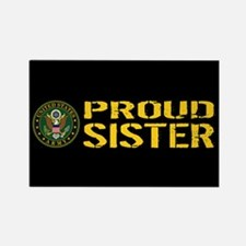 U.S. Army: Proud Sister (Black & Rectangle Magnet