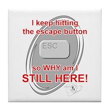 Escape Button Tile Coaster