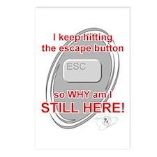 Escape Button Postcards (Package of 8)