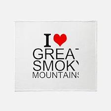I Love Great Smoky Mountains Throw Blanket