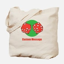 One Line Custom Dice Craps Design Tote Bag
