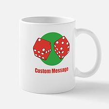 One Line Custom Dice Craps Design Mugs