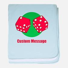 One Line Custom Dice Craps Design baby blanket