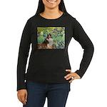 Irises / Sheltie Women's Long Sleeve Dark T-Shirt