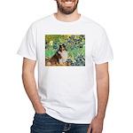Irises / Sheltie White T-Shirt