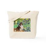 Irises / Sheltie Tote Bag