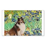 Irises / Sheltie Sticker (Rectangle)