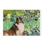 Irises / Sheltie Postcards (Package of 8)