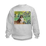 Irises / Sheltie Kids Sweatshirt