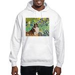 Irises / Sheltie Hooded Sweatshirt
