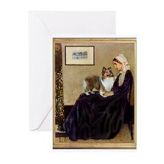 Whistler's / Sheltie Greeting Cards (Pk of 20)