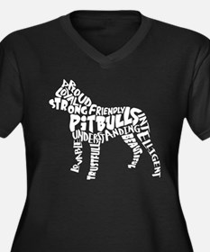 Pit Bull Wor Women's Plus Size V-Neck Dark T-Shirt