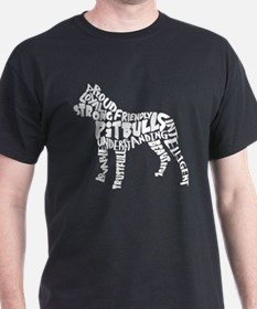 Pit Bull Word Art T-Shirt