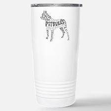 Pit Bull Word Art Greys Travel Mug