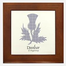 Thistle - Dunbar of Pitgaveny Framed Tile
