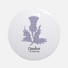 Thistle - Dunbar of Pitgaveny Ornament (Round)