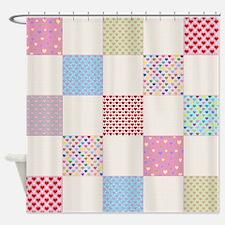 Quilt Pattern Shower Curtains Quilt Pattern Fabric Shower Curtain Liner