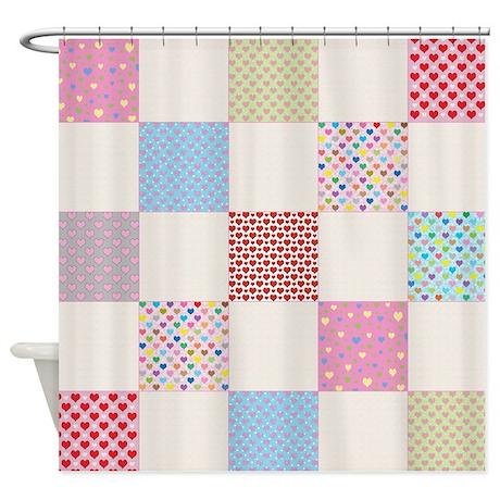 Cute Quilt Pattern Shower Curtain