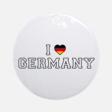 I Love Germany Round Ornament