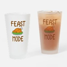 Feast Mode Drinking Glass